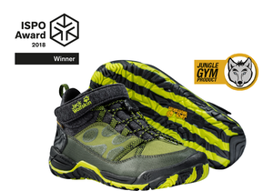 ISPO AWARD – Auszeichnung für JUNGLE GYM TEXAPORE Schuh von JACK WOLFSKIN