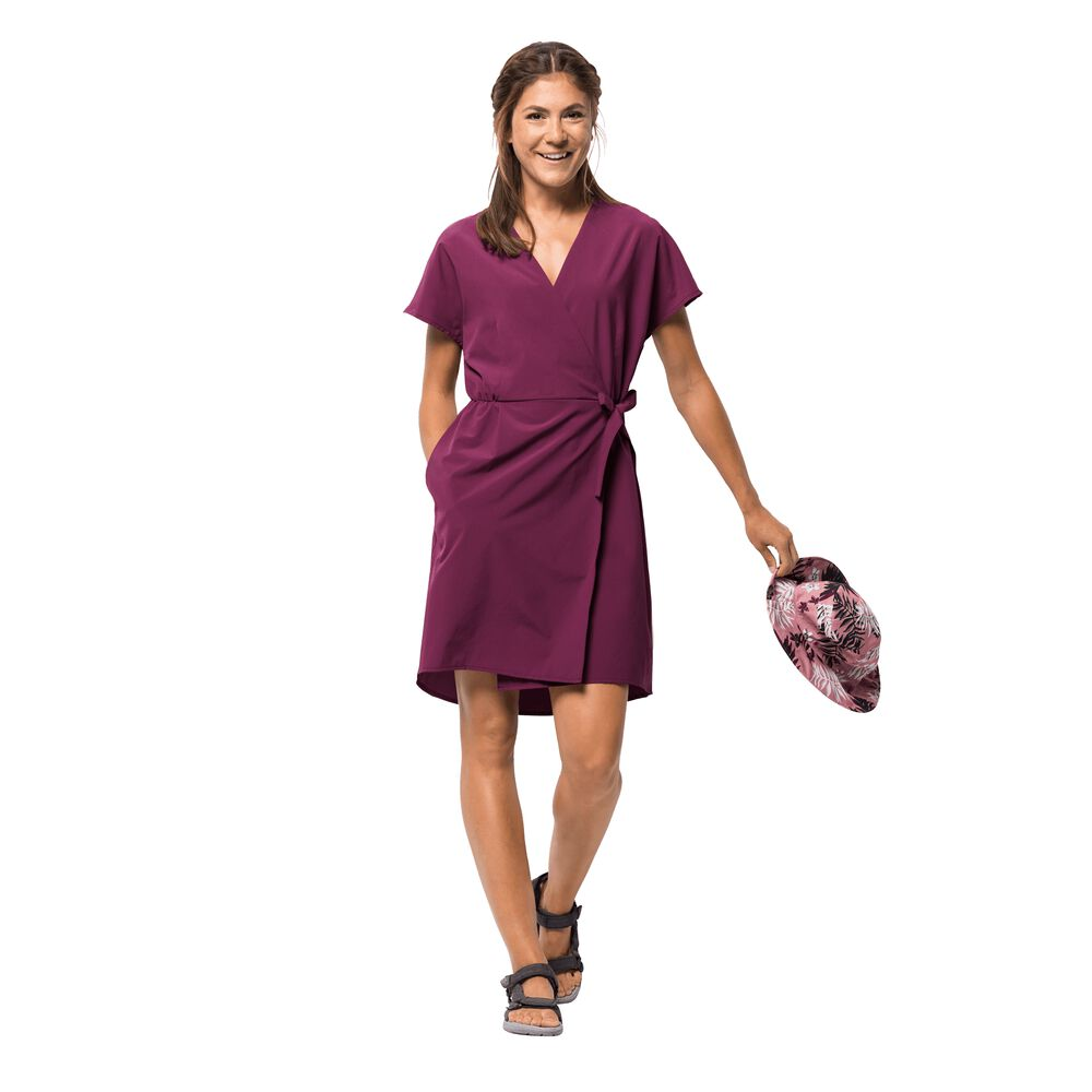 Jack Wolfskin Wickelkleid Frauen Victoria Dress XL violett