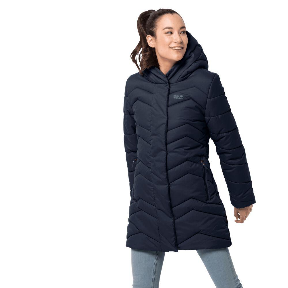 Jack Wolfskin Winddichter Steppmantel Frauen Kyoto Coat Women XXL blau | Bekleidung > Mäntel > Daunenmäntel & Steppmäntel | Jack Wolfskin