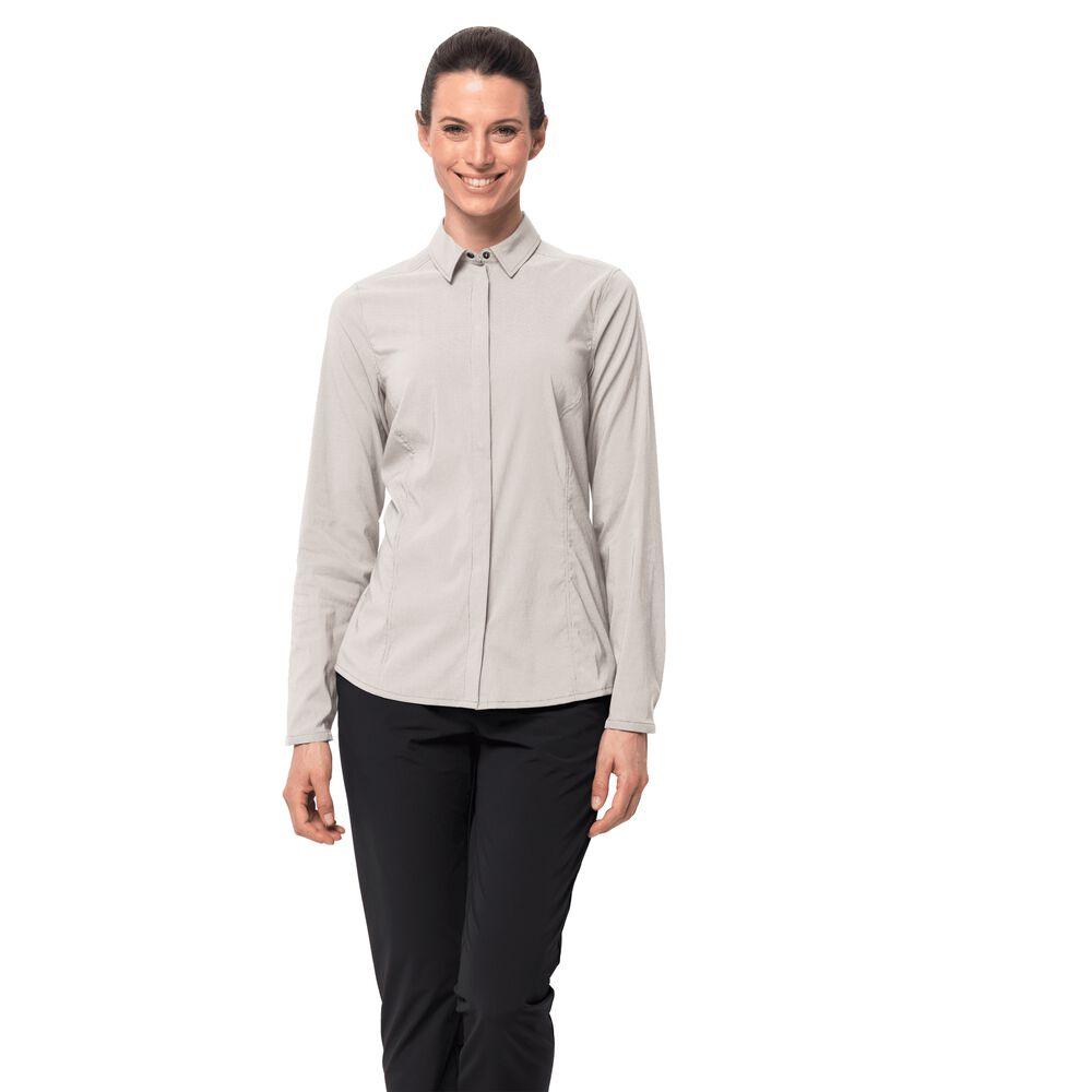 Jack Wolfskin Funktions-Bluse Frauen JWP LS Shirt Women XXL weiß | Bekleidung > Blusen > Funktionsblusen | Jack Wolfskin