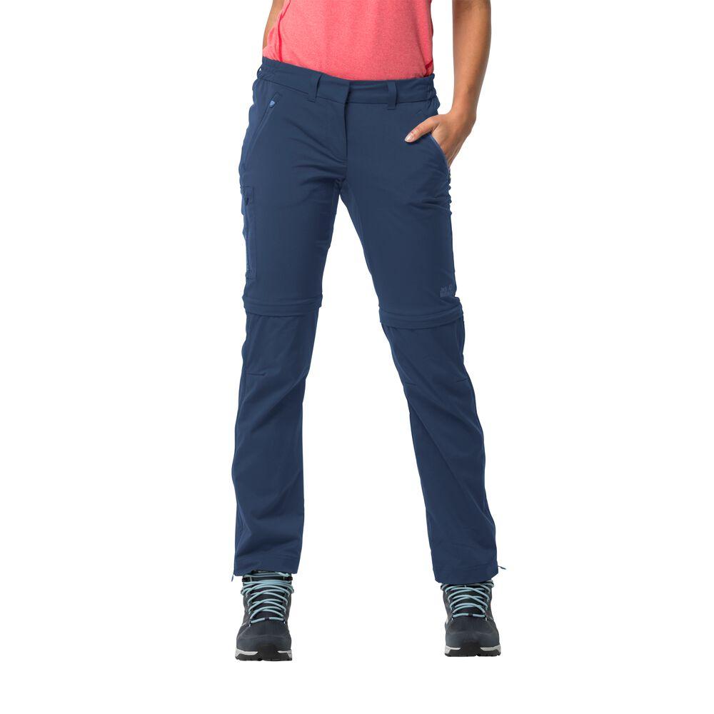 Jack Wolfskin Overland Zip Away Women Zip-Off Softshellhose Frauen 22 blau dark indigo | Sportbekleidung > Sporthosen > Softshellhosen | Jack Wolfskin
