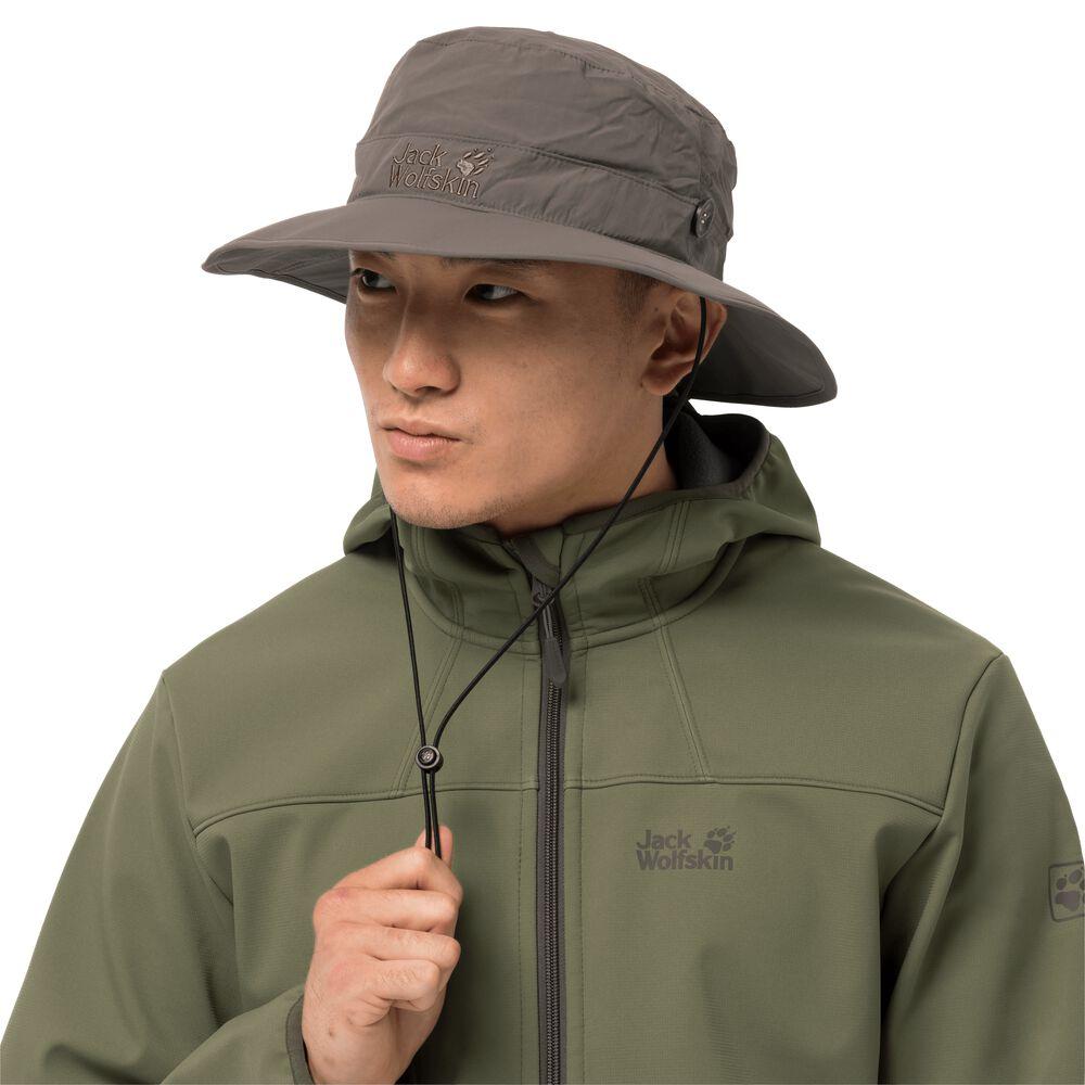 Jack Wolfskin Supplex Mesh Hat Sonnenhut M grau siltstone | Accessoires > Hüte > Sonnenhüte | Jack Wolfskin