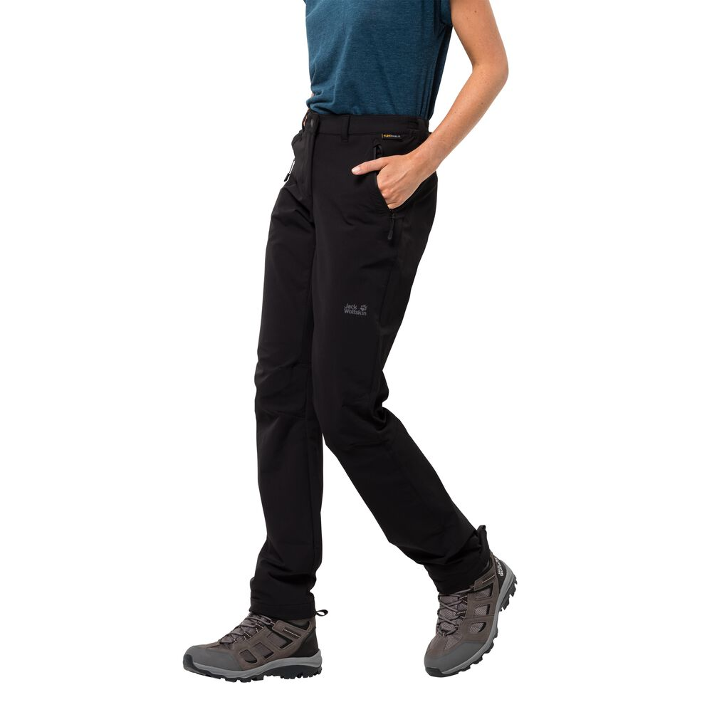 Jack Wolfskin Softshellhose Frauen Activate Extended Version Women 44 schwarz black | Sportbekleidung > Sporthosen > Softshellhosen | Jack Wolfskin