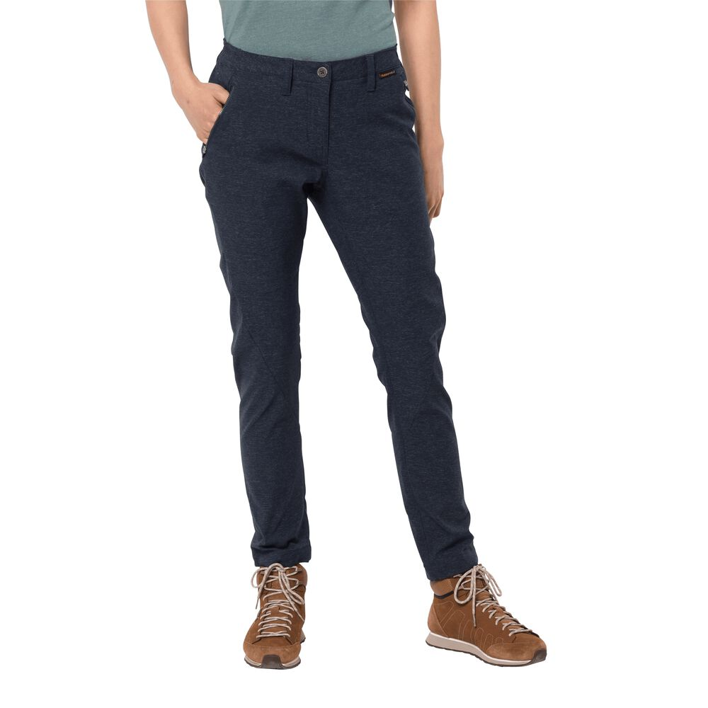 Jack Wolfskin Softshellhose Frauen Winter Travel Pants Women 36 blau   Sportbekleidung > Sporthosen > Softshellhosen   Blue   Jeans   Jack Wolfskin