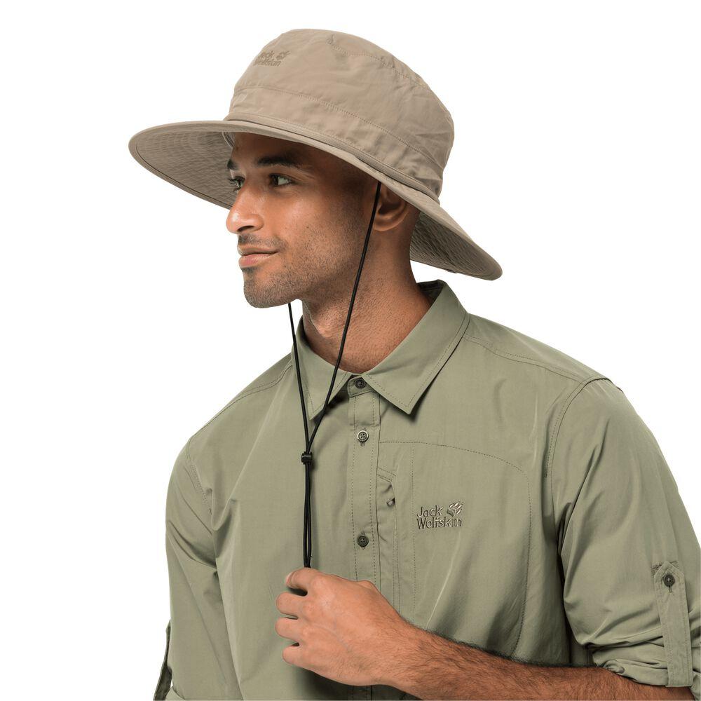 Jack Wolfskin Sonnenhut mit Moskitonetz Lakeside Mosquito Hat L braun | Accessoires > Hüte > Sonnenhüte | Jack Wolfskin