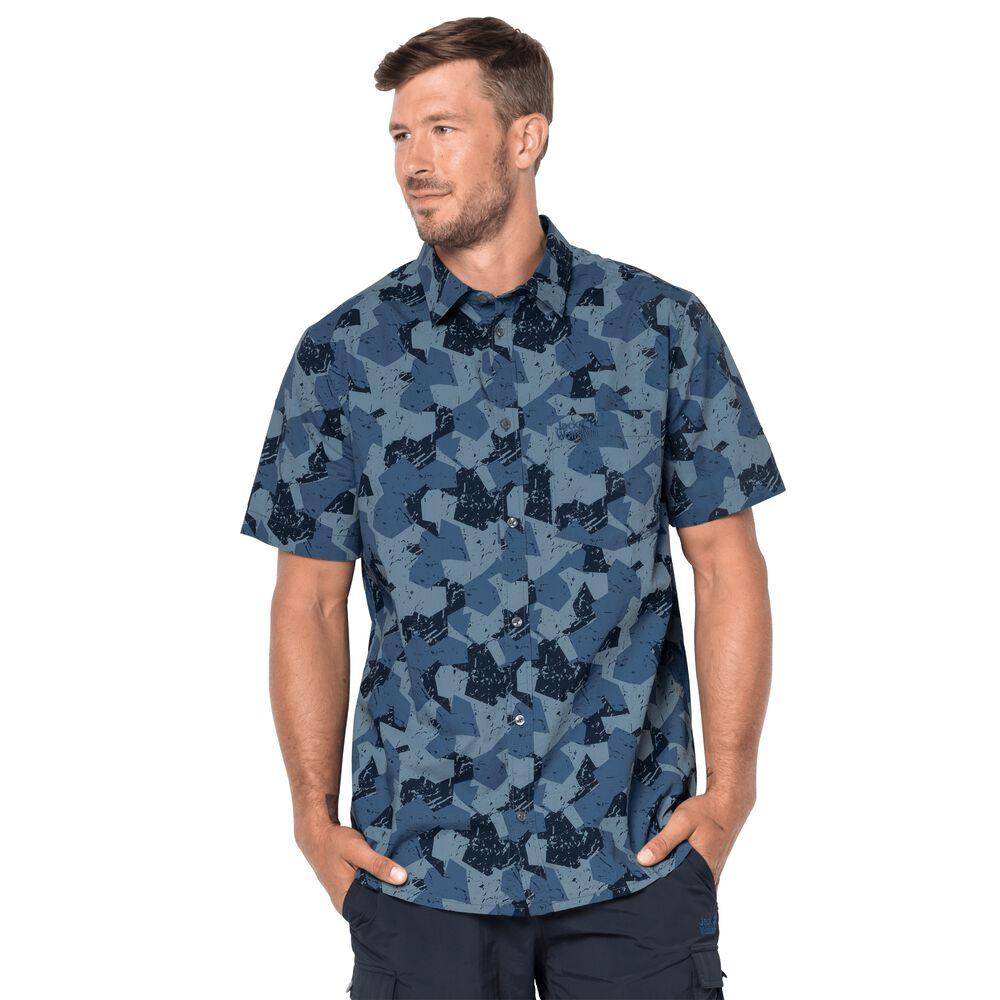 Jack Wolfskin  Hemd Hot Chili arble Shirt  blau | 04055001764624