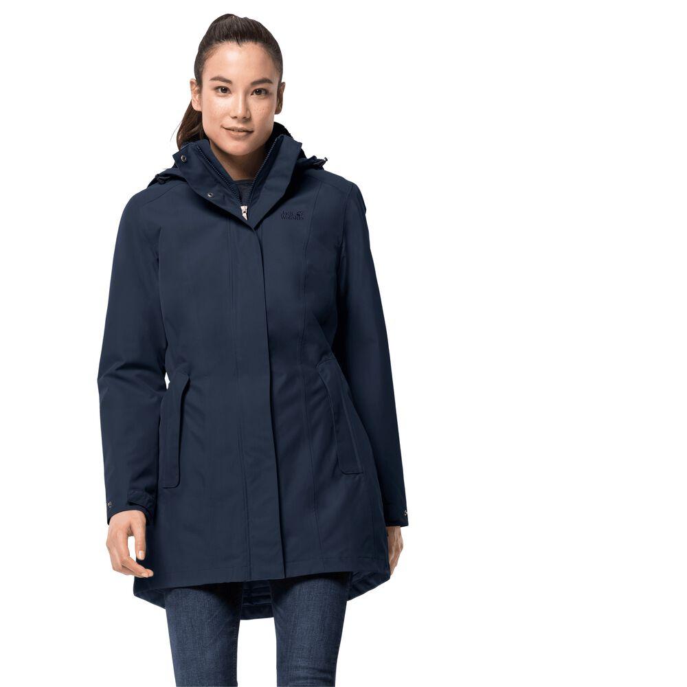 Jack Wolfskin  Wintermantel Frauen adison Avenue Coat  blau | 04055001667246