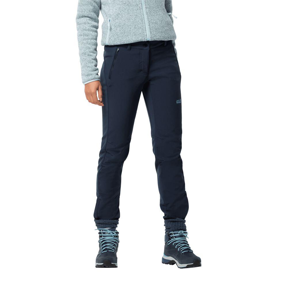 Jack Wolfskin Softshellhose Frauen Zenon Softshell Pants Women 92 blau   Sportbekleidung > Sporthosen > Softshellhosen   Blue   Fleece   Jack Wolfskin