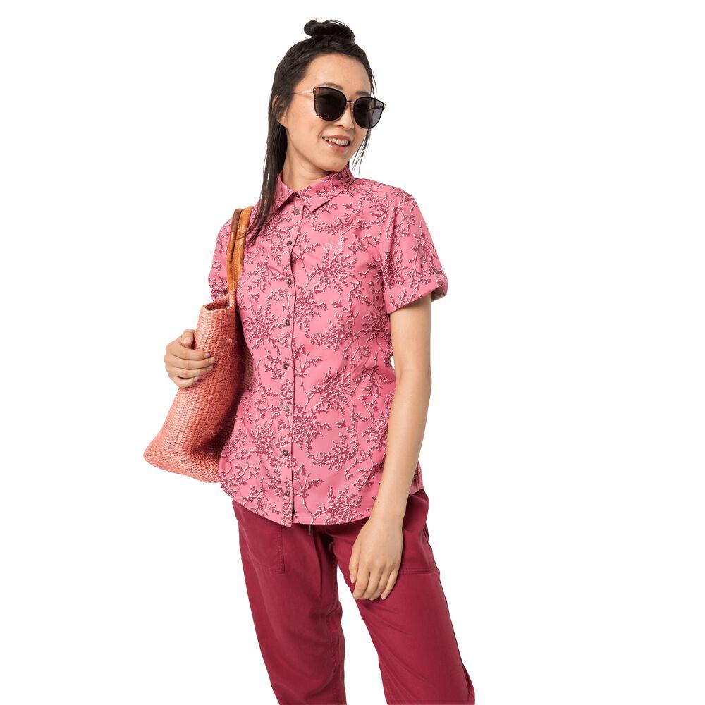 Jack Wolfskin Matata Print Shirt Women Funktions-Bluse Frauen XS violett rose quartz all over | Bekleidung > Shirts > Print-Shirts | Jack Wolfskin