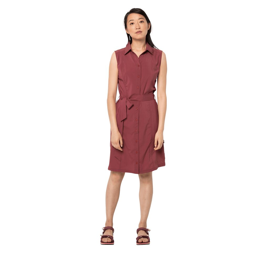 Jack Wolfskin Blusenkleid Frauen Sonora Dress L rot auburn | Bekleidung > Kleider > Blusenkleider | Jack Wolfskin