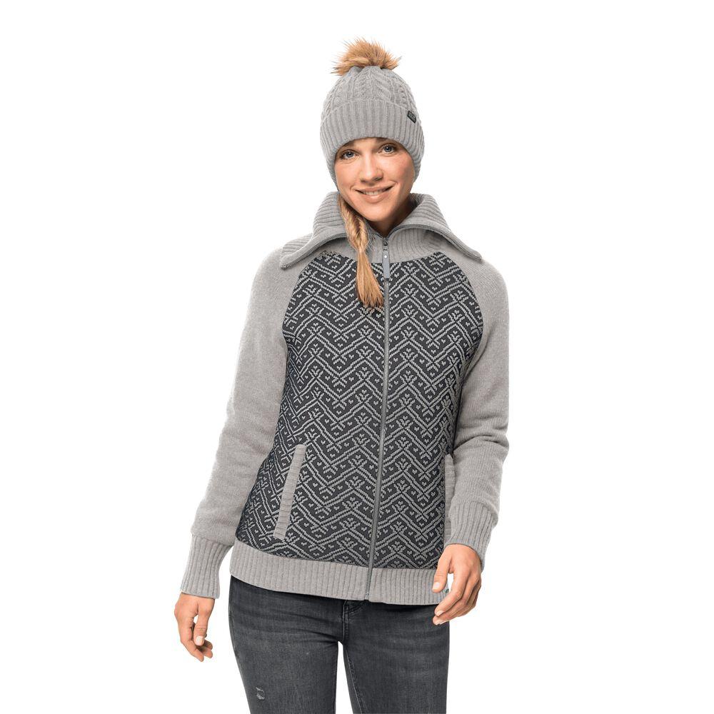 Jack Wolfskin Winddichte Strickjacke Frauen Northwind Jacket Women XS grau light grey | Bekleidung > Strickjacken & -mäntel | Jack Wolfskin