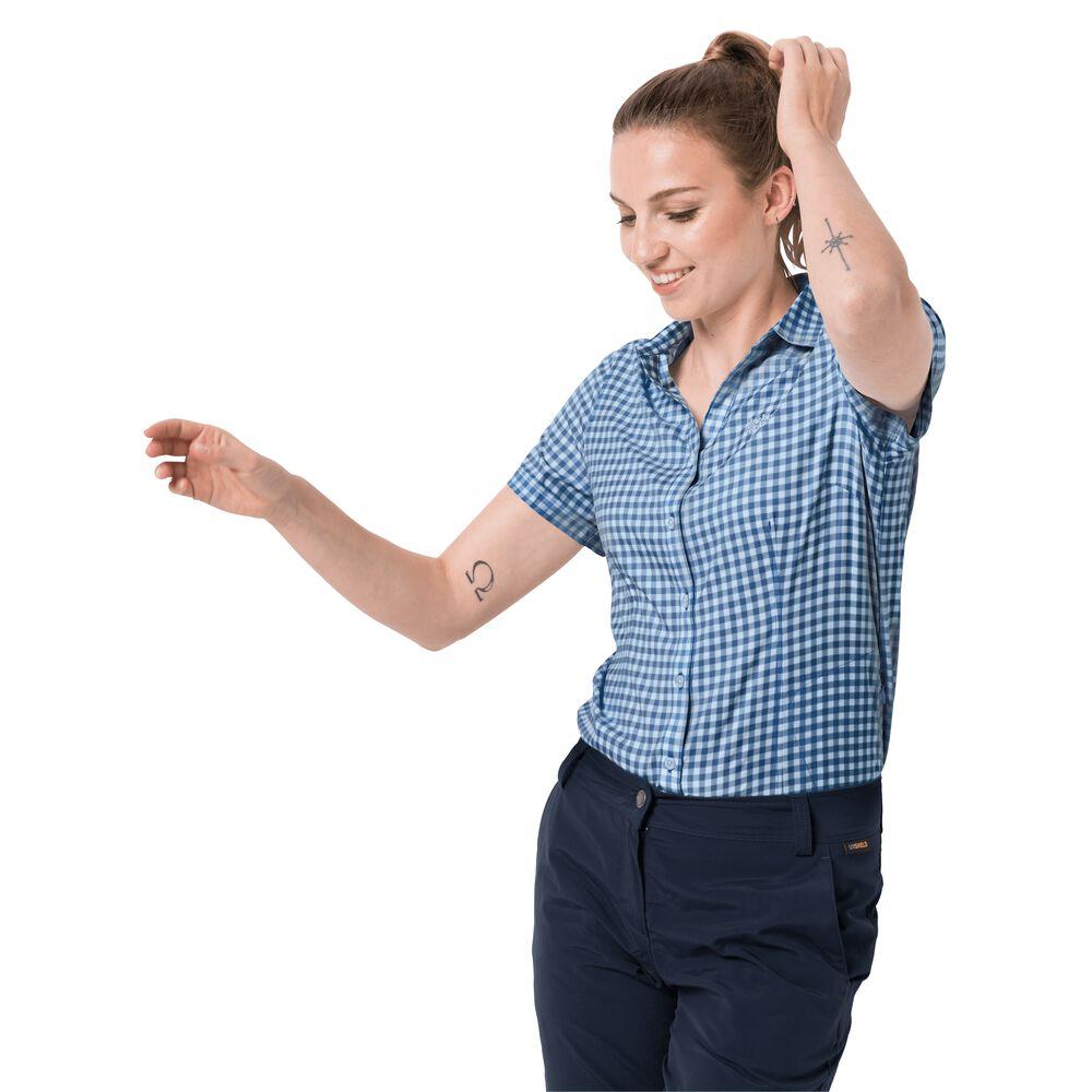 Jack Wolfskin Bluse Kepler Shirt Women M blau bei Jack Wolfskin - Outdoor Kleidung