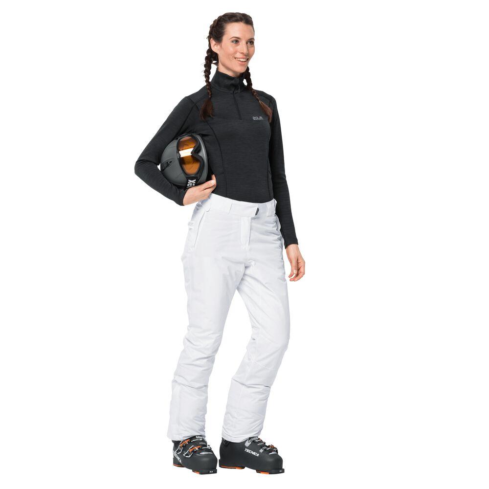 Jack Wolfskin Skihose Frauen Powder Mountain Pants Women 38 weiß | Sportbekleidung > Sporthosen > Skihosen | Jack Wolfskin