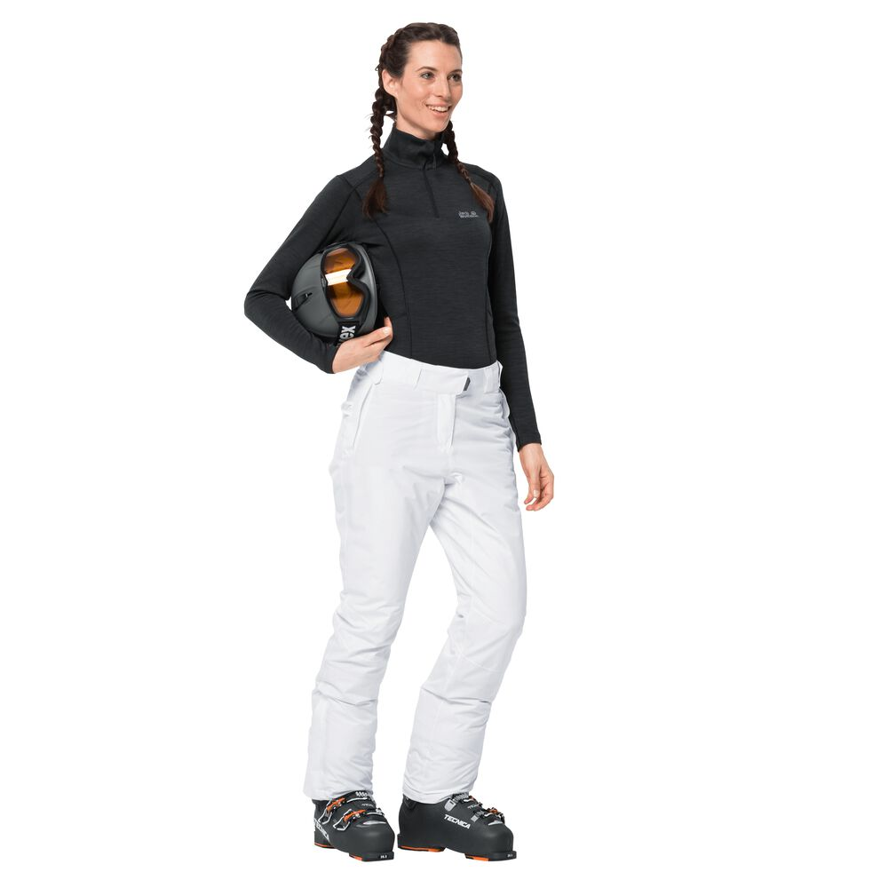 Jack Wolfskin Skihose Frauen Powder Mountain Pants Women 72 weiß white rush   Sportbekleidung > Sporthosen > Skihosen   Jack Wolfskin