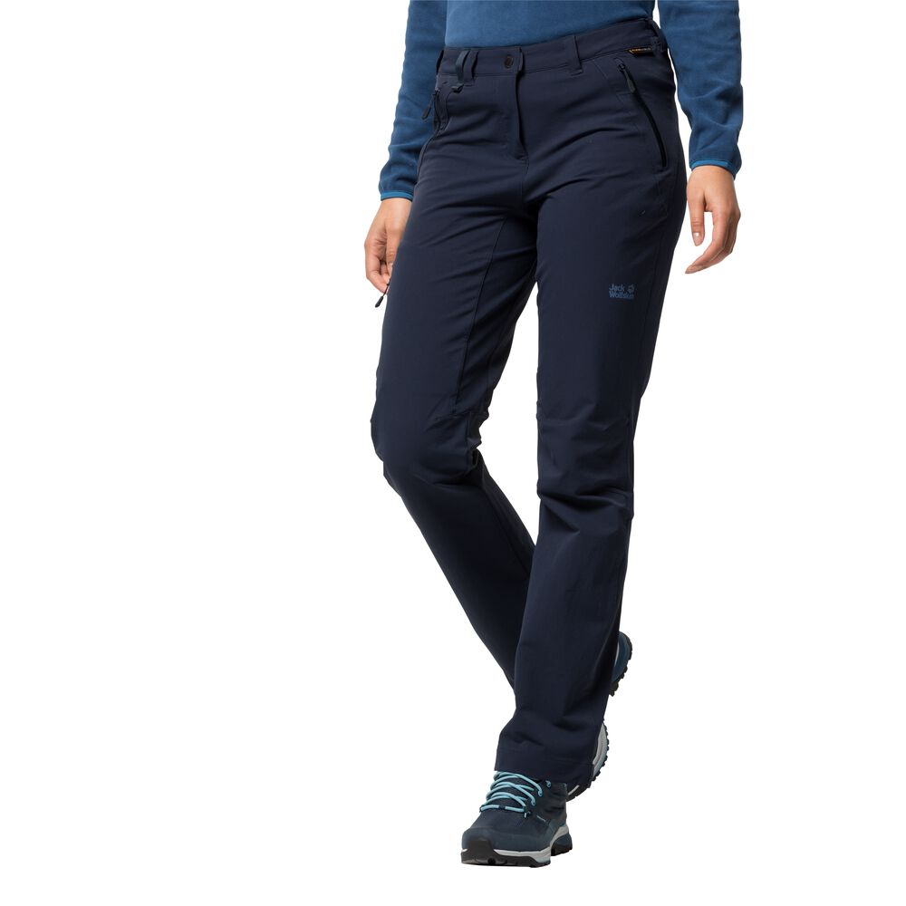 Jack Wolfskin Activate Extended Version Women Softshellhose Frauen 34 blau midnight blue | Sportbekleidung > Sporthosen > Softshellhosen | Jack Wolfskin