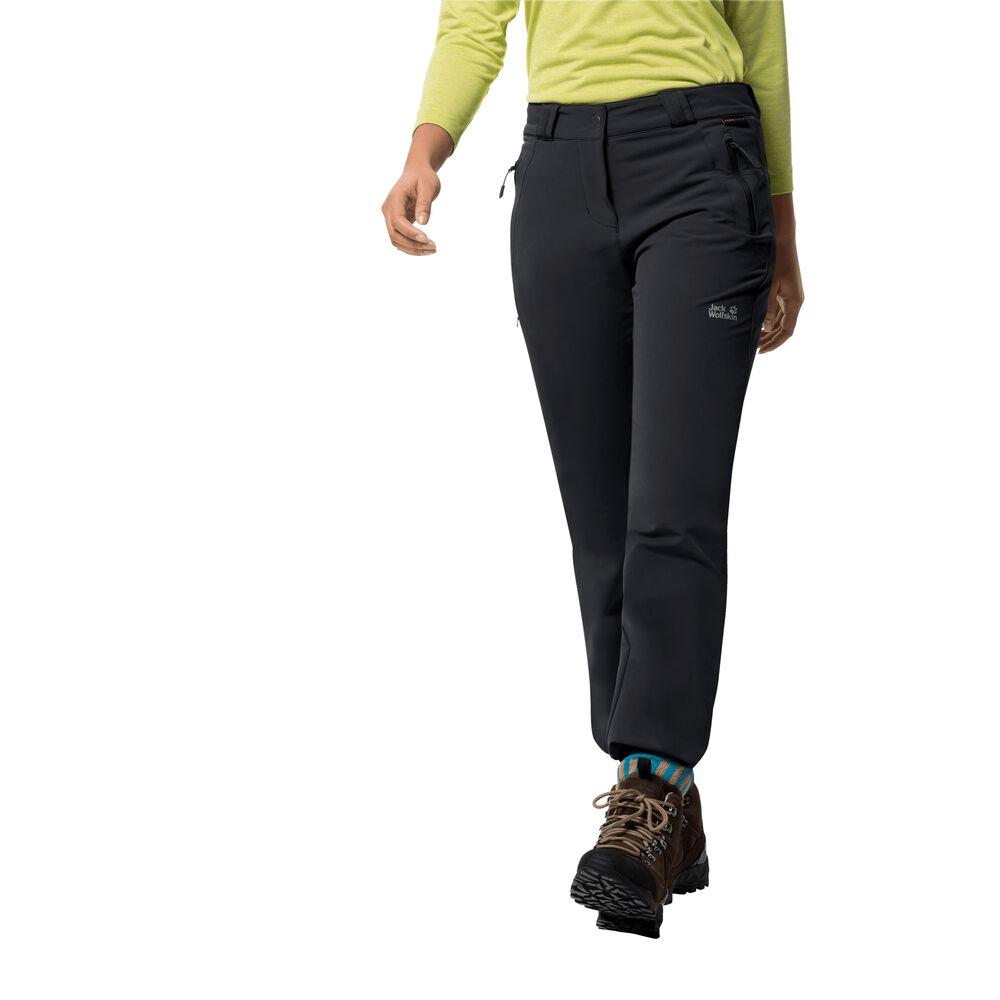 Jack Wolfskin Softshellhose Frauen Activate Thermic Pants Women 46 schwarz | Sportbekleidung > Sporthosen | Black | Jack Wolfskin