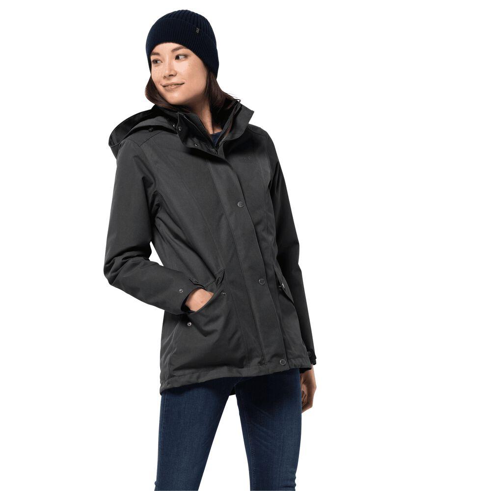 Jack Wolfskin  Winterjacke Frauen Park Avenue Jacket  schwarz | 04055001906079