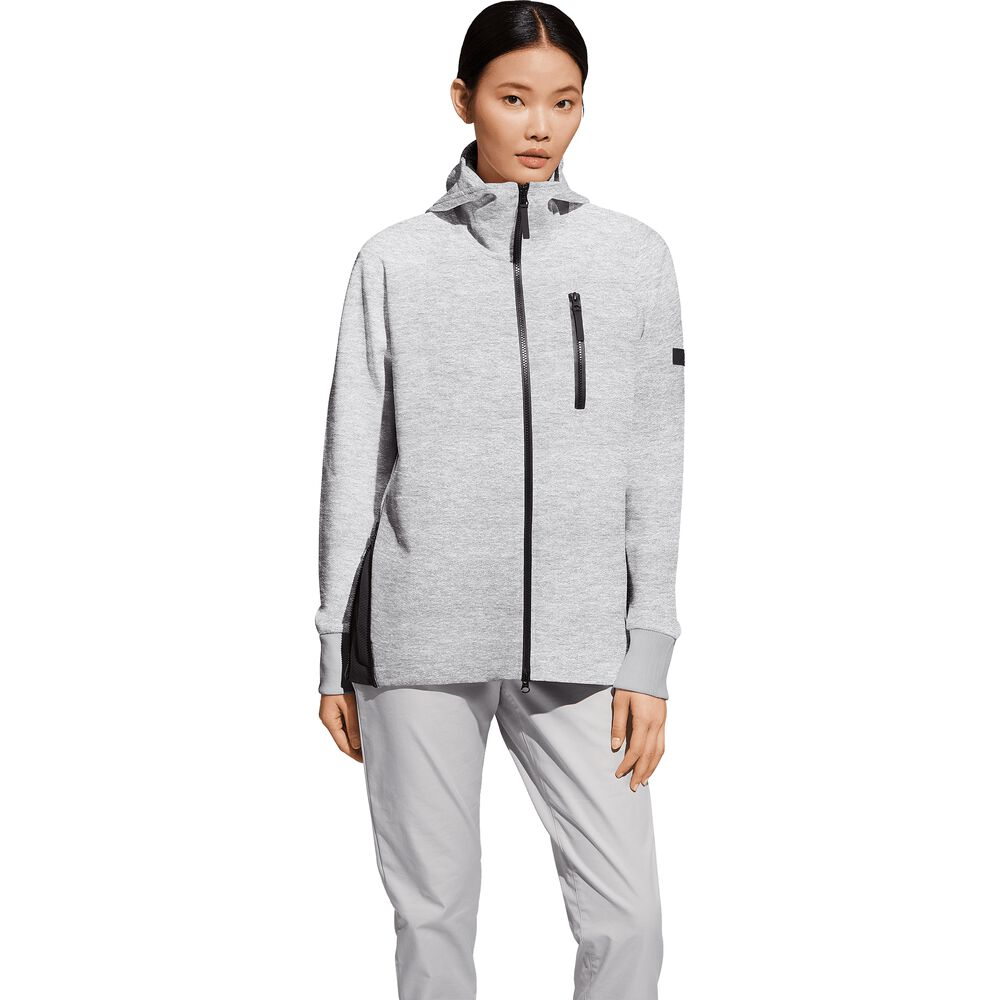 Jack Wolfskin Table Bay Hooded Jacket Women Kapuzen-Sweatjacke Frauen XL grau grey heather | Bekleidung > Sweatshirts & -jacken > Hoodies | Jack Wolfskin