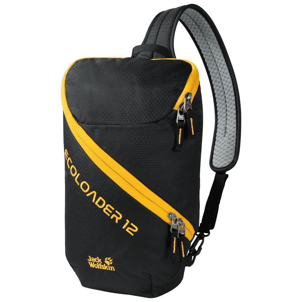 Jack Wolfskin Ecoloader 12 Bags Nachhaltige Slingbag one size schwarz black | Taschen > Rucksäcke > Tagesrucksäcke | Jack Wolfskin