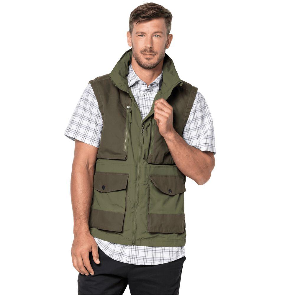 Jack Wolfskin  Weste Männer Barstow Vest Men  grün | 04055001750955