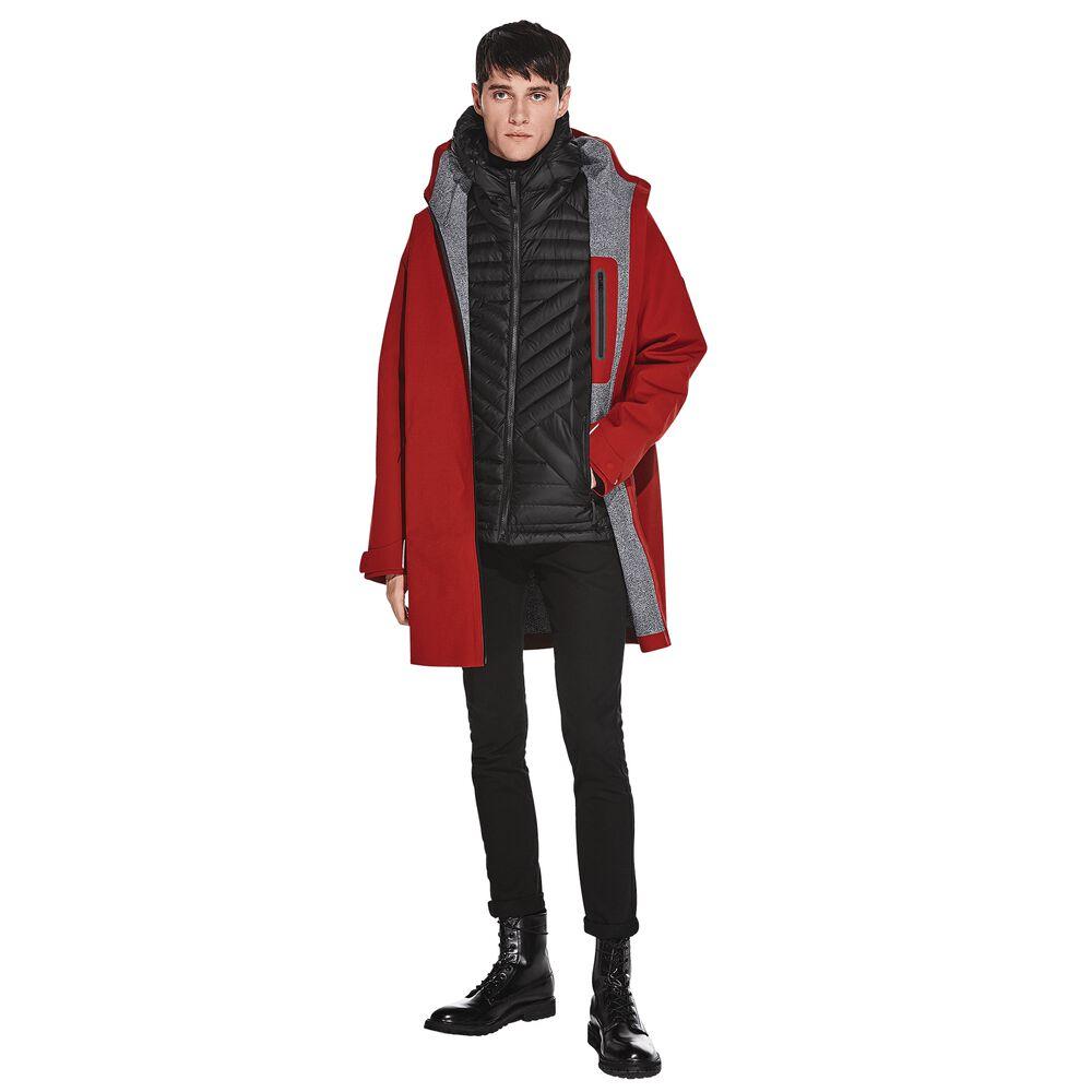 Artikel klicken und genauer betrachten! - Minimalistischer, zeitloser Mantel mit nahtloser + wasserdichter 3-Lagen XALTTM GS Konstruktion.   im Online Shop kaufen