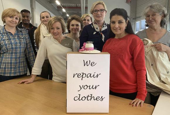 Wir reparieren deine Kleidung banner